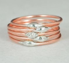 **Free Domestic Ship (alaridesign) Tags: free domestic shipping for all orders over 50 use coupon code shipfree50 thin copper silver dew drop stacking ring these rings 750 each choose n alari
