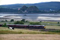 Royal Scotsman Passing Dumbarton Rock (Russardo) Tags: belmond rail class 66 renfrewshire scotland clyde royal scotsman dumbarton rock