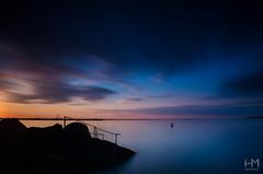 Forty Foot 23Jul2017 1 (Helen Mulvey) Tags: fortyfoot dunlaoghaire dublin ireland water coastalphotography sea tide longexposure cloud cloudmovement sunset dusk blue nikon d5100 tripod