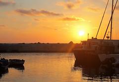 Splendid Sunset (Photogioco) Tags: sunsets mare mediterraneo mediterraneansea fishingport red oldcity orange sea beautiful boats lifestyle lights