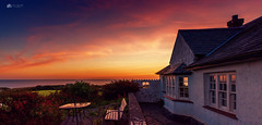And relax... (Kerriemeister) Tags: holiday relax wales anglesey sea seaview cottage penfor sky sunset clouds terrace holidays summer