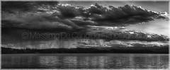 "Lago di Varese (""Max Deca"") Tags: varese panorama landscape landmark blackandwhite biancoenero monocromatico lago nuvole clouds cloudsstormssunsetssunrises rain pioggia diluvio downpour schiranna bodiolomnago acqua acquazzone tramonto travel tranquillity nature natura"