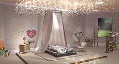 Rae Canopy Bed (Akaesha Revnik) Tags: second life secondlife akaesha react animated furniture animations couple bed bath sofa set