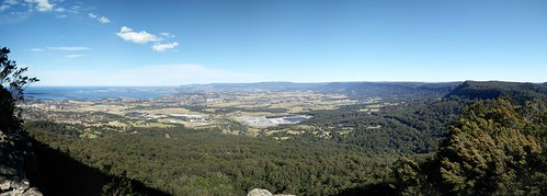 Looking towards Albion Park from Mount Kembla
