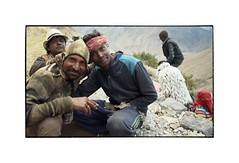 Rajasthani Workers in Spiti (Piers Muiry) Tags: kodak portra 400 film 135 35mm portrait mountains spiti valley india himalayas people travel