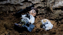 """""""Sevs"""" - DT Sigfig (RagingPhotography) Tags: lego star wars dark times order 66 sixty six imperial galactic empire republic army battle geonosis clonetrooper stormtrooper clone civil war outside outdoor soil dirt filthy plastic toy minifigure minifig figure dc15 z6 custom weapons ragingphotography"""