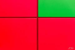 Paris_0317-6-2 (Mich.Ka) Tags: paris abstract abstrait bâtiment carré façade geometric geometrique graphic graphique mur rectangle red rouge square urbain urban wall yellow