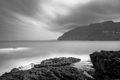 Grey day (Rico the noob) Tags: dof landscape nature d500 outdoor madeira clouds published longexposure sea 1120mm ocean monochrome multipleexposure bw water blackandwhite sky beach 2017 cliff 1120mmf28