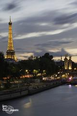 Eiffel Tower (Lonely Soul Design) Tags: paris longexpo long exposure france eiffel tower bridge alexandre iii light la seine river nightshot cityscape