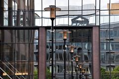 Lamps and Reflection. (Manoo Mistry) Tags: birmingham nikon nikond5500 tamron18270mmzoomlens tamron westmidlands birminghampostandmail birminghamuk greatwesternarcade arcade lamp lantern reflection glass
