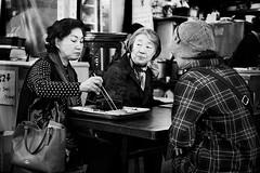 DSCF1302 (yann CM B) Tags: seoul 2017 southkorea streetphotography blackandwhite blackwhitepassionaward blackdiamond candid women food foodmarket asia fuji fujixt20 fixlens market