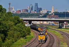 "Westbound Transfer in Kansas City, KS (""Righteous"" Grant G.) Tags: up union pacific railroad railway locomotive train trains west westbound transfer emd power freight kansas city"