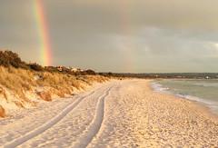 Seaford Beach (Kokkai Ng) Tags: seaford beach melbourne victoria rainbow stormy