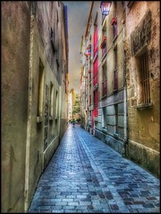 The alley.... (Sherrianne100) Tags: narrow cobblestones street alley paris france