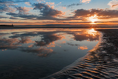 Skyfall (Derek Coull) Tags: nairn beach sunset reflections textures sunflare rockpool cascading goldenhour scotland highlands
