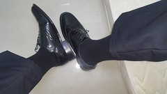 Ready for work (polmas2010) Tags: black sheer shoes socks suits