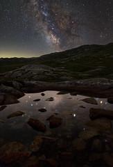 Grimsel Milkyway (Brunzolini) Tags: milkyway milchstrasse sterne sternenhimmel sky nightsky nightscape starscape landscape night brunzo lini grimsel grimselpass switzerland valais wallis reflection pond rocks steine