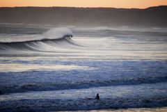 surfer (#christopher#) Tags: surfer sea sky ocean wave swell cliffs northsea