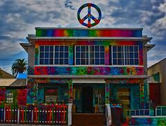 Summer of Love (oybay©) Tags: sandiego oceanbeach color colors peace peacesign newportavenue hostel hotel hippies psychedelic