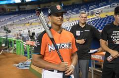 Noah Naylor advances to the finals of the 2017 High School Home Run Derby in Miami. (apardavila) Tags: asg allstargame mlb majorleaguebaseball marlinspark noahnaylor ballpark baseballhighschoolhomerunderby sports stadium