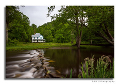 Perfect Setting (TGB Filmography) Tags: cataloocheevalleynationalpark caldwellhouse landscape longexposure slowshutter northcarolina tamron1024mm tamron1024 creek home forgotten land outdoors countryside trees beautiful peaceful reflection