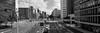 Rotterdam 12-07-2017-10 (Pure Natural Ingredients) Tags: r rotterdam nederland holland zuid nikon nikkor tiltshift pce24mmf35 d500 laurenskerk yellow footbridge loopbrug voetgangers brug houten hout wood wooden hofplein zwartwit blackandwhite black white 010 rotjeknor netherlands skyline panorama
