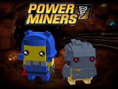 Rex and Firox Brickheadz (Soloman Fagan) Tags: powerminers power miners lego brickheadz moc rockmonster rock monster powercrystals crystals crystal blue firox rex 2009 dynamite mine