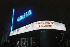 Genesis Cinema (goodfella2459) Tags: nikon f65 kodak portra 400 35mm c41 film genesis cinema whitechapel london east end twin peaks uk festival milf night building sign streets lights