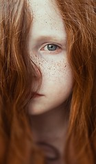 Little Freckled Fox (nathanmagee) Tags: freckles ginger orange girl eyes sharp texture contrast face portrait 365 focus