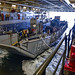 Sailors tie up a Landing Craft Unit from Beachmaster Unit 1 in the well deck of USS Somerset.
