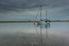 lonely yacht (Pastel Frames Photography) Tags: malahide dublin marina yacht boat water reflections sightseeing photography travelphotography landscape landscapephotography river irish sea sky clouds