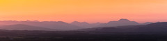 Peachy Pano (dalejckelly) Tags: canon canon7dmarkii canon70300l scotland scottish visitscotland trossachs mountain mountains sunset goldenhour landscape landscapephotography glenifferbraes glasgow paisley summer outdoor adobelightroom