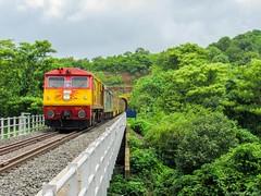 AC Double Decker Express (mohammedali47) Tags: indianrailways konkanrailway doubledeckerexpress panval bridge maharashtra railfans locomotive alco wdp3a kalyan toaster