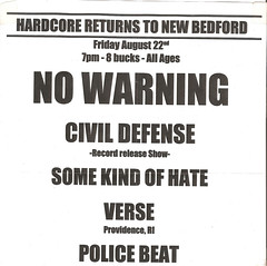 No Warning, Civil Defense, Some Kind Of Hate, Verse, Police Beat @ Reflections (nbrock.net) Tags: newbedford newbedfordma nowarning civildefense somekindofhate verse policebeat reflections