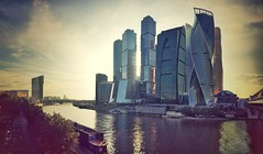 Moscow City moody panorama (NO PHOTOGRAPHER) Tags: iphone 6s iphoneography photography mobile mobilephotography hochhaus gebäude cityscape skyline detail blackandwhite monochrome building outdoor architecture iphonephotography exterier urban blue skycraper panorama panoramatic москва россия архитектура строительство река мост sunlight sunset light bw contrast diagonal white black abstract composition indoor