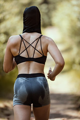 Anonymous Runner (CARECOM photography) Tags: runner woman sports superwoman wet outdoors nature energy sweat power anonymous masked