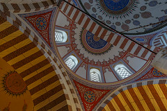 Far from Home (Dancing.With.Wolvez) Tags: mosque islam turkey istanbul travel summer tile light interior wide angle a6000 blue red orange old prayer religion