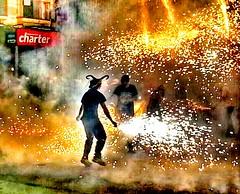 The playful devil..😈 (carlesbaeza) Tags: devil diablo diable focs fire fireworks fuego traditional tradición tradicions fiesta festes party catalunya catalonia