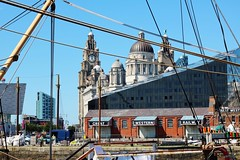 IMG_1176 (Gussyfinknottle) Tags: threegraces liverpool portofliverpoolbuilding merseyside worldheritagesite rigging england britain summer bluesky architecture liverbuilding city pierhead