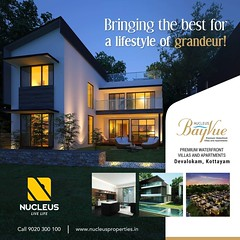 Bringing the best for a lifestyle of grandeur, Nucleus Bayvue located at Devalokam, Kottayam is surrounded by the chaste greenery of the picturesque nature, and the pristine Kodoor River.  Visit us at www.nucleusproperties.in  #Kerala #Waterfront #India # (nucleusproperties) Tags: beautiful life river elegant style kerala realestate kottayam lifestyle india luxury villa comfort apartment nature architecture interior gorgeous design elegance environment beauty building waterfront exquisite view city construction atmosphere home