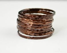 **Free Domestic Ship (alaridesign) Tags: free domestic shipping for all orders over 50 use coupon code shipfree50 super thin chocolate copper stacking ring these rings 11 each choose number alari