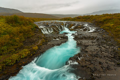 Bruarfoss (Lourdes Santos Bajo) Tags: cascada waterfall water azul blue río river bruarfoss islandia iceland lourdessantos