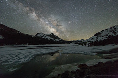 Milky Way Reflection on Tioga Lake (Jeffrey Sullivan) Tags: iceout milkyway tioga pass road yosemite national park night landscape photography workshop mono lake county lee vining california usa canon eos 6d jeff sullivan photo copyright june 2017