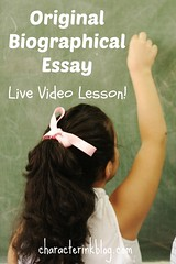 Original Biographical Essay Live Lesson (Video and Download Included!) (Character Ink) Tags: alphabet hair caucasian cheerful child childhood classroom cute drawing education elementary ethnicity back home homework isolated knowledge learning little notebook one pencil people person portrait practice pretty primary school schoolchild sitting smile study studying table teen teenager two white young youth board blackboard female male copyspace empty blank writing