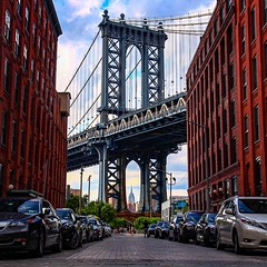 Summer Daze (deeval99) Tags: photography streetphotography cityscape empirestatebuilding brooklyn dumbo architecture nyc manhattanbridge