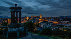 Evening on Carlton Hill in Edinburgh (ralfkai41) Tags: ngc carltonhill lichter night scottland dugaldstewartmonument edinburgh dawn monument city evening denkmal lights dämmerung stadt abend schottland architektur architecture nacht