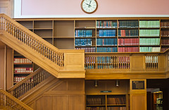 Library 2nd Floor Law Section (Orbmiser) Tags: 55200vr books d90 library nikon oregon portland shelves staircase summer
