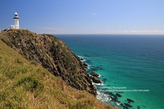 Byron Bay, Cape Byron, Lighthouse (blauepics) Tags: australia australien landscape landschaft new south wales nsw byron bay cape kap hills hügel coast küste water wasser turquoise türkis blue blau rocks felsen lighthouse leuchtturm tower turm
