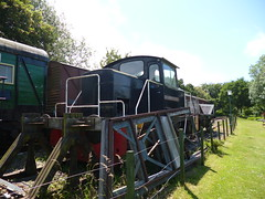 "Preserved English Electric 0-6-0DH ""Richborough Castle"" 11062017a (Rossendalian2013) Tags: preserved englishelectric 060dh dieselhydrauliclocomotive richboroughcastle d1197 eastkentrailway eythorne station railway train rawdoncolliery ncb nationalcoalboard"