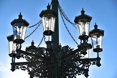 Mala Strada walk (jmarnaud) Tags: czech 2017 walk city summer mala strana old building castle sunset blue sky statue